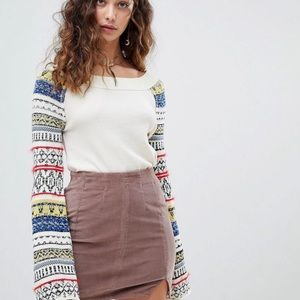 NWT FREE PEOPLE   Fairground Thermal Top Bell
